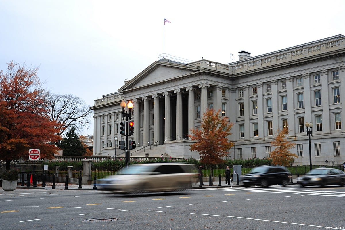 This November 15, 2011 file photo shows the US Treasury Building in Washington, DC on November 21, 2011 [KAREN BLEIER/AFP via Getty Images]