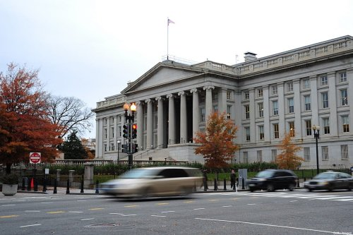 This November 15, 2011 file photo shows the US Treasury Building in Washington, DC on November 21, 2011 [KAREN BLEIER/AFP via Getty Images]