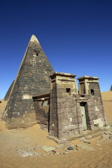 The Meroe archaeological site, 300 kms north of the Sudanese capital Khartoum [GIANLUIGI GUERCIA/AFP via Getty Images]