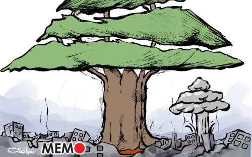 Massive blast rocks Beirut, Lebanon - Cartoon [Sabaaneh/MiddleEastMonitor]