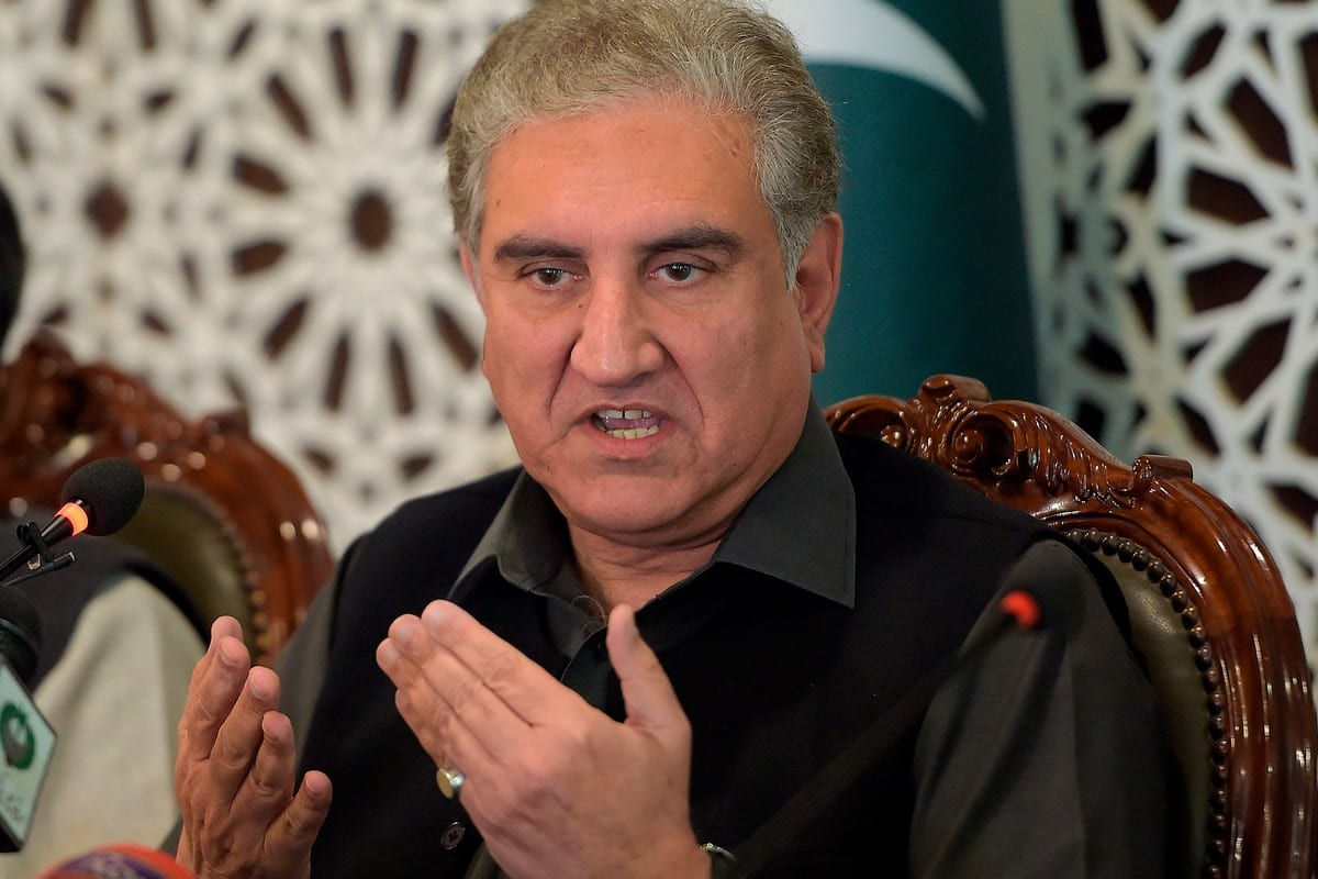 Pakistan's Foreign Minister Shah Mahmood Qureshi in Islamabad, Pakistan on 1 March 2020 [FAROOQ NAEEM/AFP/Getty Images]