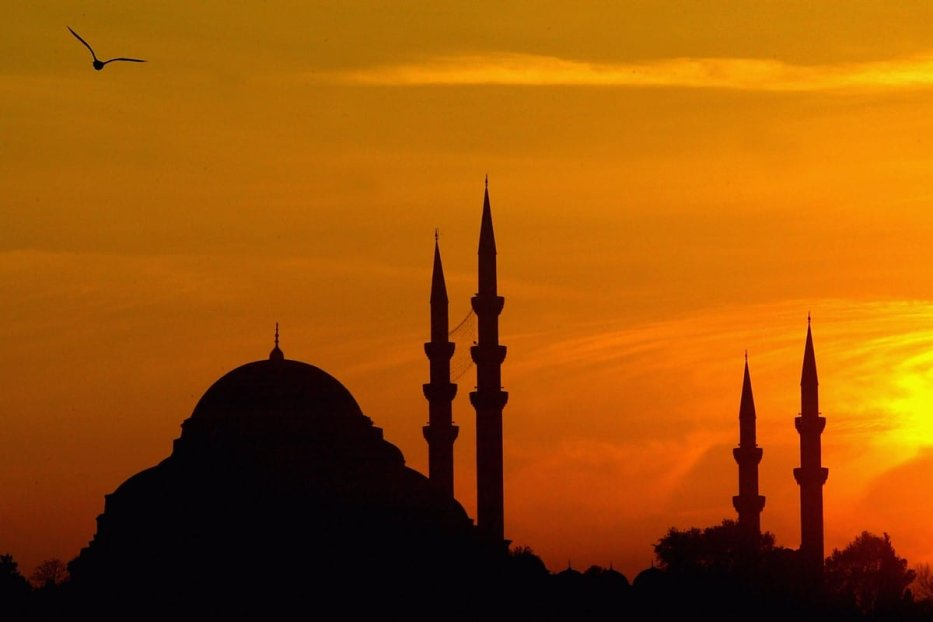 The sun sets over Hagia Sophia mosque 23 November 2003 in Istanbul, Turkey [Scott Barbour/Getty Images]