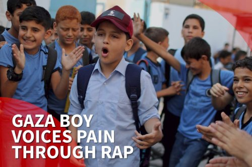 Gaza boy, 11, voices pain through rap