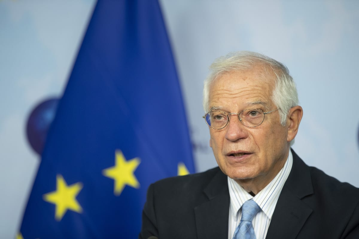 High Representative of the European Union for Foreign Affairs and Security Policy, Josep Borrell speaks to the press ahead of Belgrade-Pristina Dialogue in Brussels, Belgium on 7 September 2020. [EU Council / Pool - Anadolu Agency]