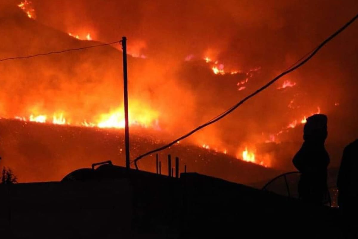 Wildfires set off landmines on Israel-Lebanon border