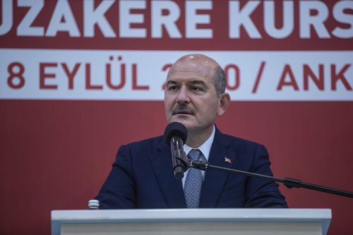Turkish Interior Minister Suleyman Soylu in Ankara, Turkey on 14 September 2020. [Esra Hacioğlu - Anadolu Agency]