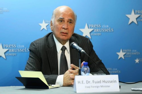 Iraqi Foreign Minister Fuad Hussein in Brussels, Belgium on 17 September 2020 [Dursun Aydemir/Anadolu Agency]