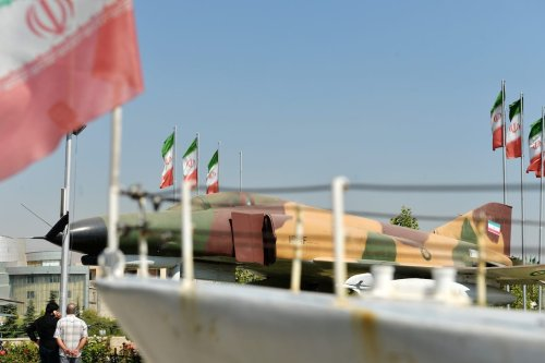 People tour the Holy Defense Museum dedicated to the Iran–Iraq War (1980–1988) [Fatemeh Bahrami/Anadolu Agency]