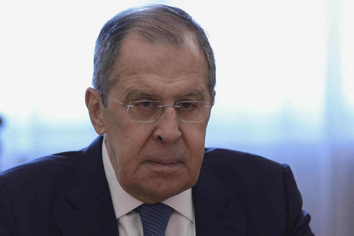 Russian Foreign Minister Sergey Lavrov in Moscow, Russia on 23 September 2020. [Russian Foreign Press Service - Anadolu Agency]
