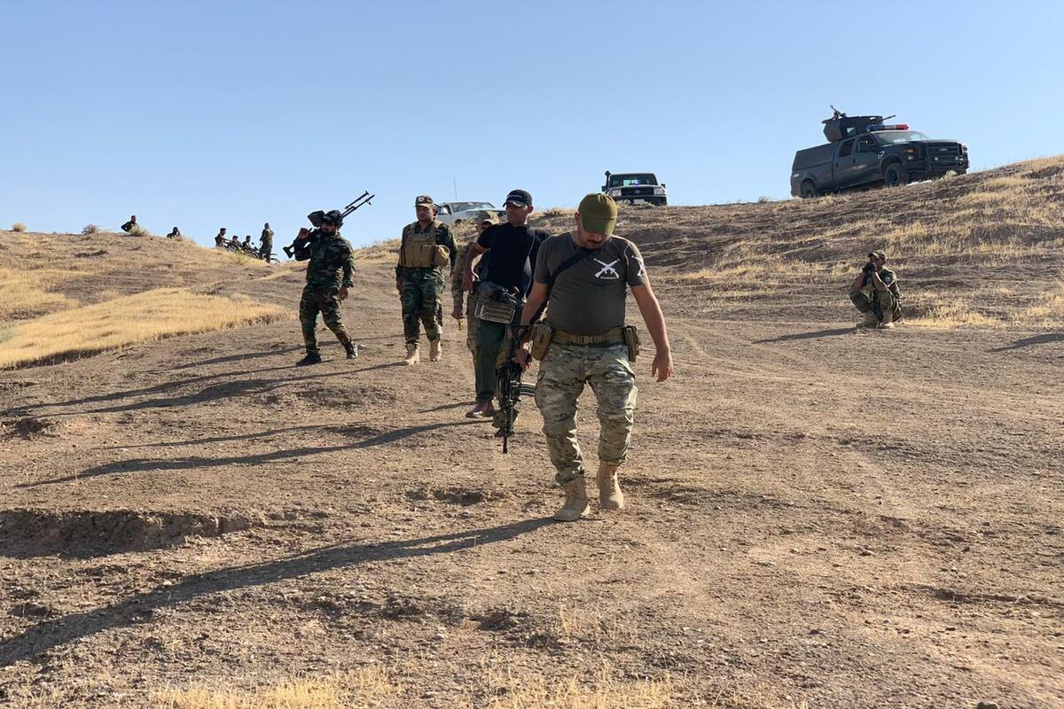 Iraqi security forces are seen as they conduct an operation against Daesh in rural areas of Kirkuk, Saladdin and Diyala on September 24, 2020 in Kirkuk, Iraq [Ali Makram Ghareeb/Anadolu Agency]
