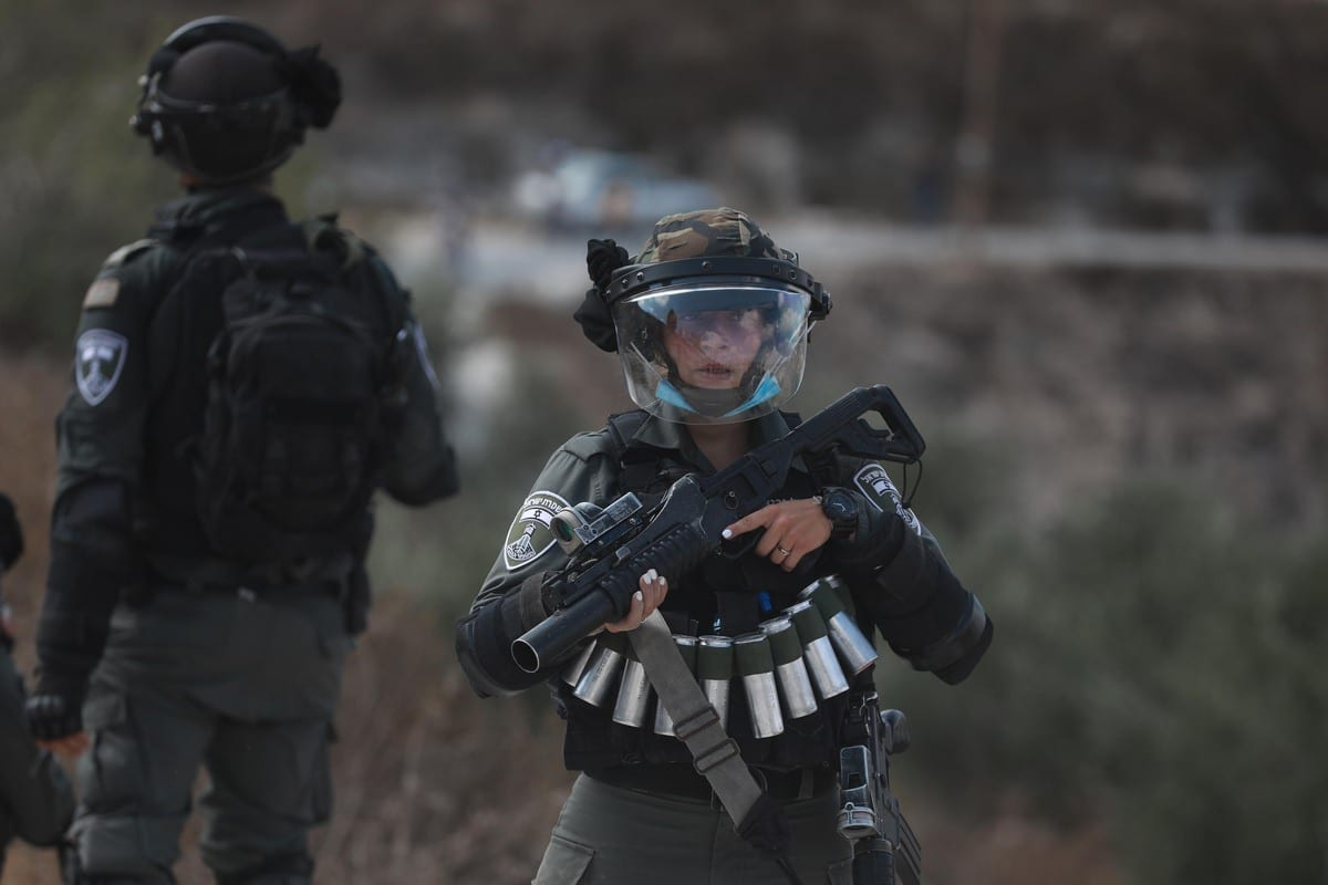 Israeli security forces in Nablus, West Bank on 25 September 2020 [Issam Rimawi/Anadolu Agency]