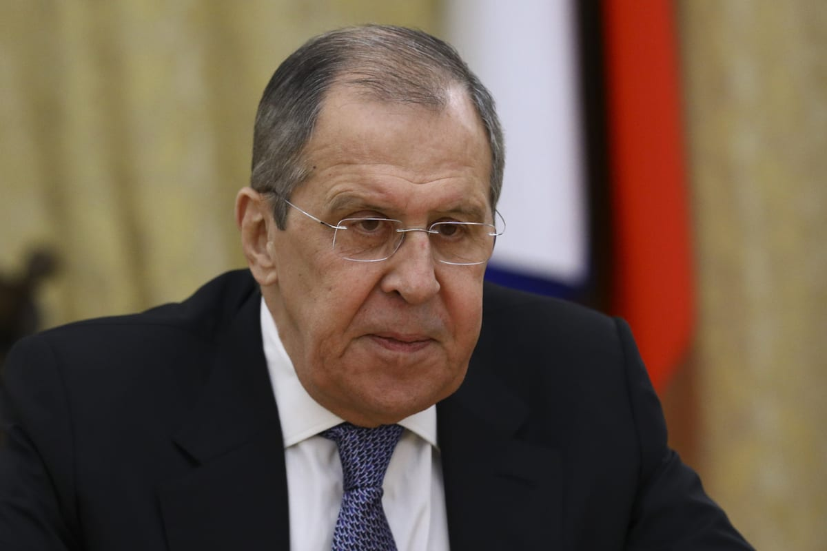 Foreign Minister Sergey Lavrov in Moscow, Russian on September 28, 2020 [RUS Foreign Ministry Press Office/Anadolu Agency]