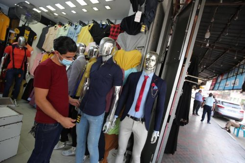 Shops and shopping malls re-open in Gaza after 24 days of lockdown due to coronavirus, on 19 September 2020 [Mohammed Asad/Middle East Monitor]