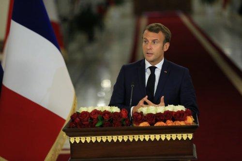 French President Emmanuel Macron in Baghdad, Iraq on 2 September 2020 [Murtadha Al-Sudani/Anadolu Agency]