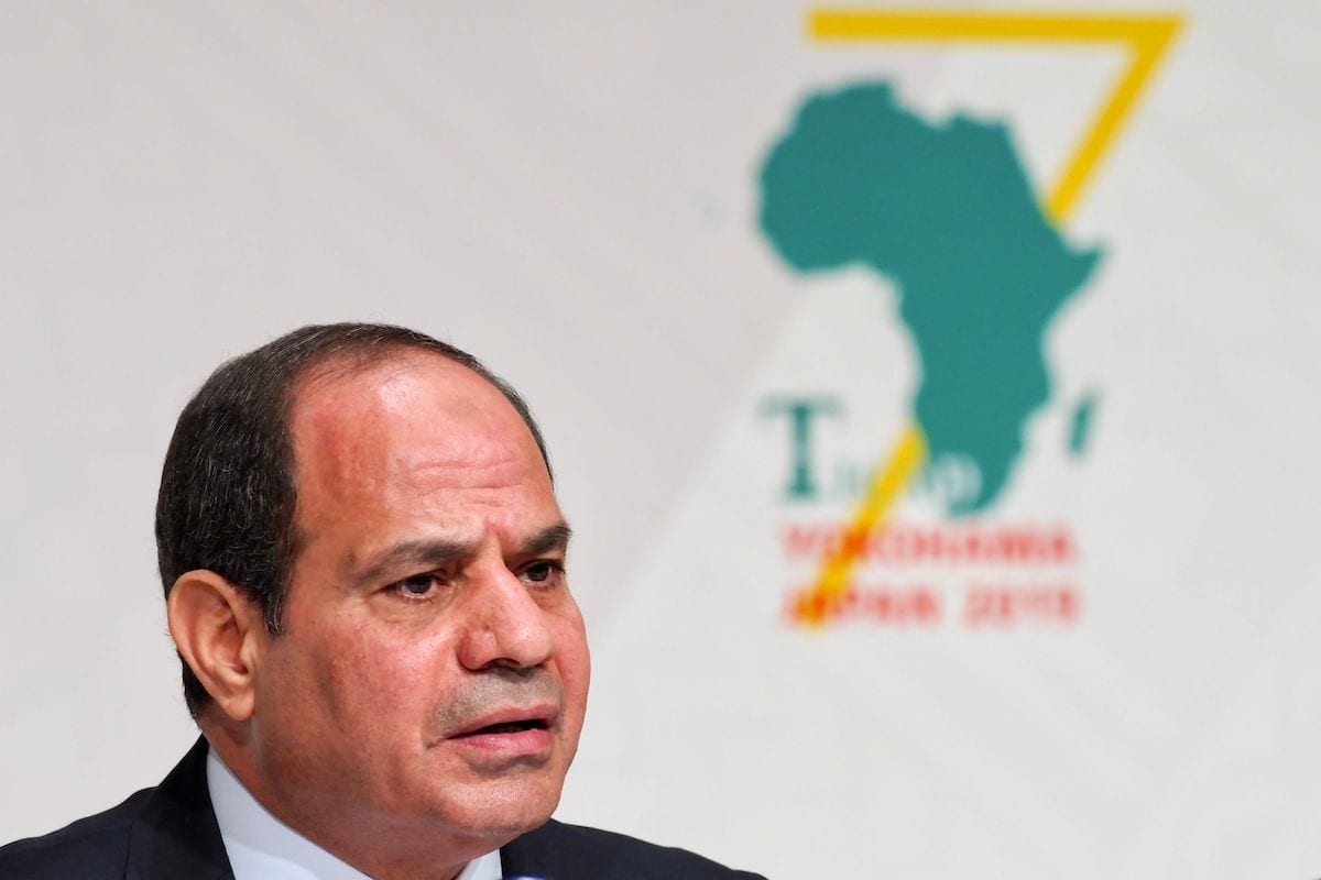 African Union Chairperson and Egypts President Abdel Fattah al-Sisi answers a question during a joint press conference of the seventh Tokyo International Conference on African Development (TICAD) in Yokohama on August 30, 2019. (Photo by Toshifumi KITAMURA / AFP) (Photo credit should read TOSHIFUMI KITAMURA/AFP via Getty Images)