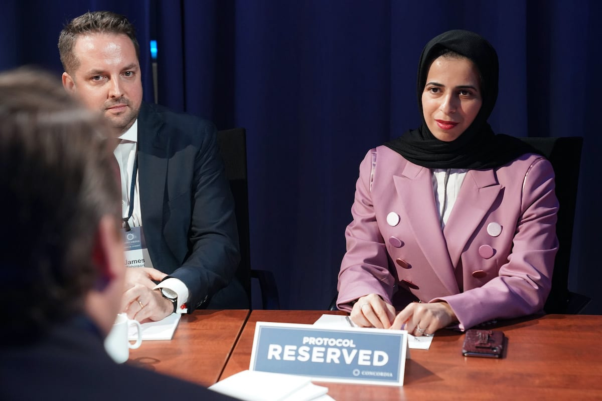 Lolwah Rashid Al-Khater, Spokesperson of the Ministry of Foreign Affairs of the State of Qatar on September 24, 2019 in New York City [Leigh Vogel/Getty Images for Concordia Summit]