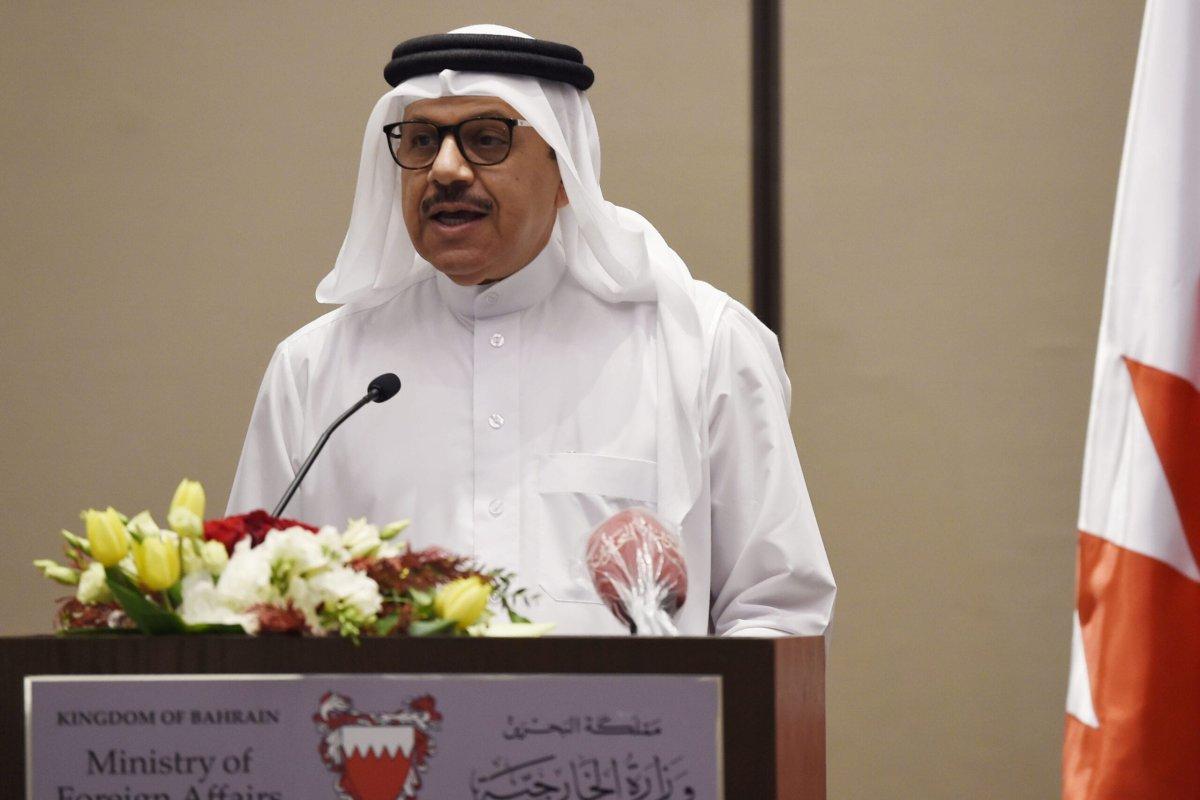 Bahrain Foreign Minister Abdullatif bin Rashid Al-Zayani in Manama, Bahrain on 29 June 2020 [MAZEN MAHDI/AFP/Getty Images]