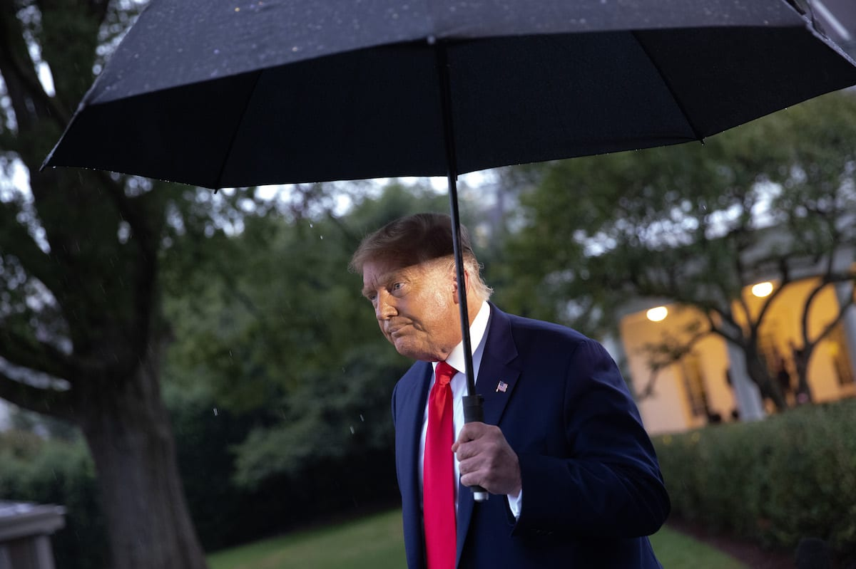 US President Donald Trump in Washington, DC on 17 September 2020 [Win McNamee/Getty Images]