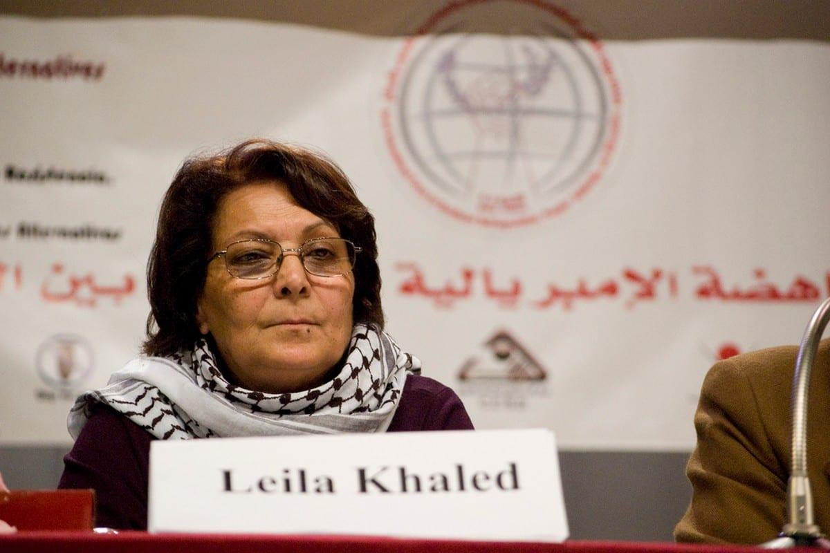 Palestinian resistance icon Leila Khaled in Vienna, Austria on18 January 2009 [FunkMonk/Wikipedia]