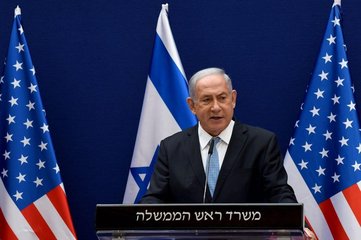 Israeli Prime Minister Benjamin Netanyahu in Jerusalem, on 30 August 2020 [DEBBIE HILL/AFP/Getty Images]