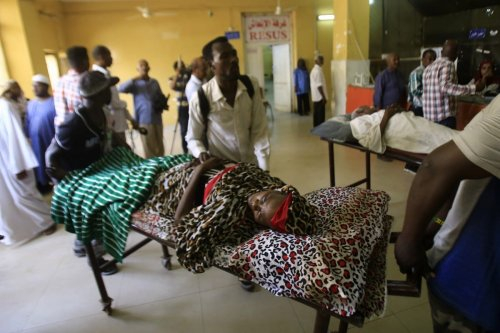 Patients in a hospital in Khartoum, Sudan on 10 June 2019 [AFP/Getty Images]