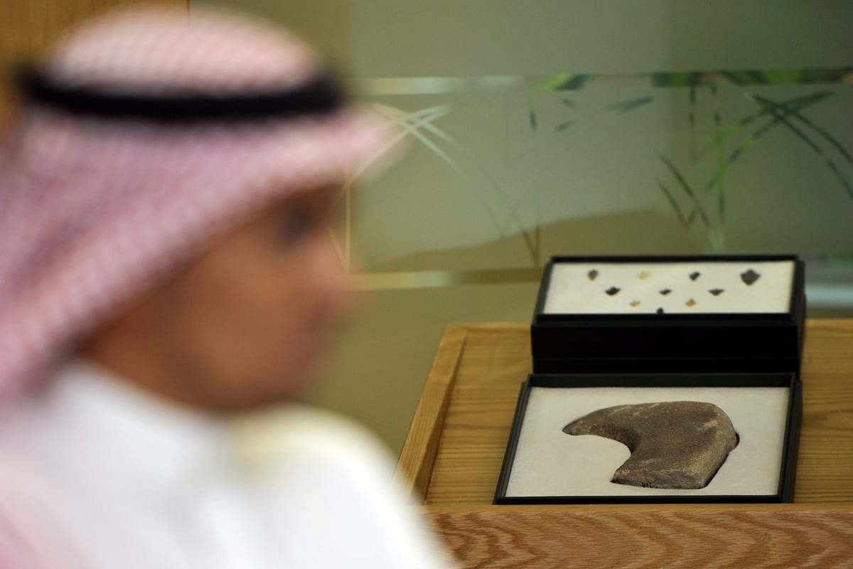 Archaeological artefacts are displayed in Jeddah, Saudi Arabia on 24 on August 2011 [AMER HILABI/AFP/Getty Images]