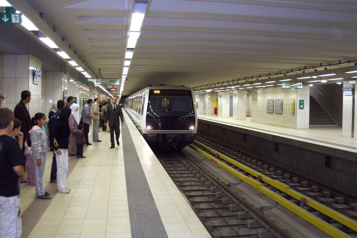 Metro station in Algiers, Algeria 22 September 2020