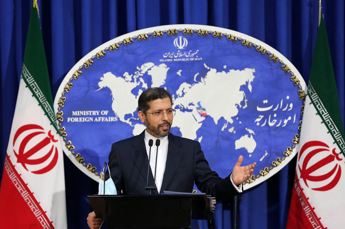 Iranian Foreign Ministry Spokesman Saeed Khatibzadeh speaks about the conflicts between Azerbaijan and Armenia during a press conference held at the Ministry of Foreign Affairs building in Tehran, Iran on 5 October 2020. [Fatemeh Bahrami - Anadolu Agency]