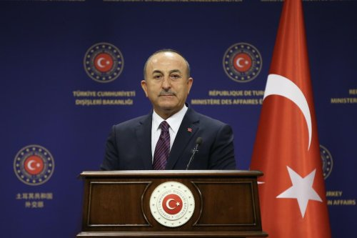 Turkish Foreign Minister Mevlut Cavusoglu on October 05, 2020 [Fatih Aktaş/Anadolu Agency]