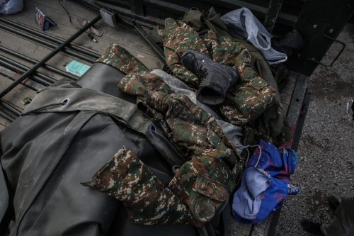 Military equipment seized within the border clashes between Azerbaijan and Armenia on October 07, 2020 in Yevlakh, Azerbaijan [Onur Çoban - Anadolu Agency]