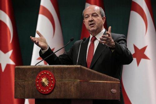 Turkish Republic of Northern Cyprus President Ersin Tatar in Ankara, Turkey on October 26, 2020 [Metin Aktaş/Anadolu Agency]