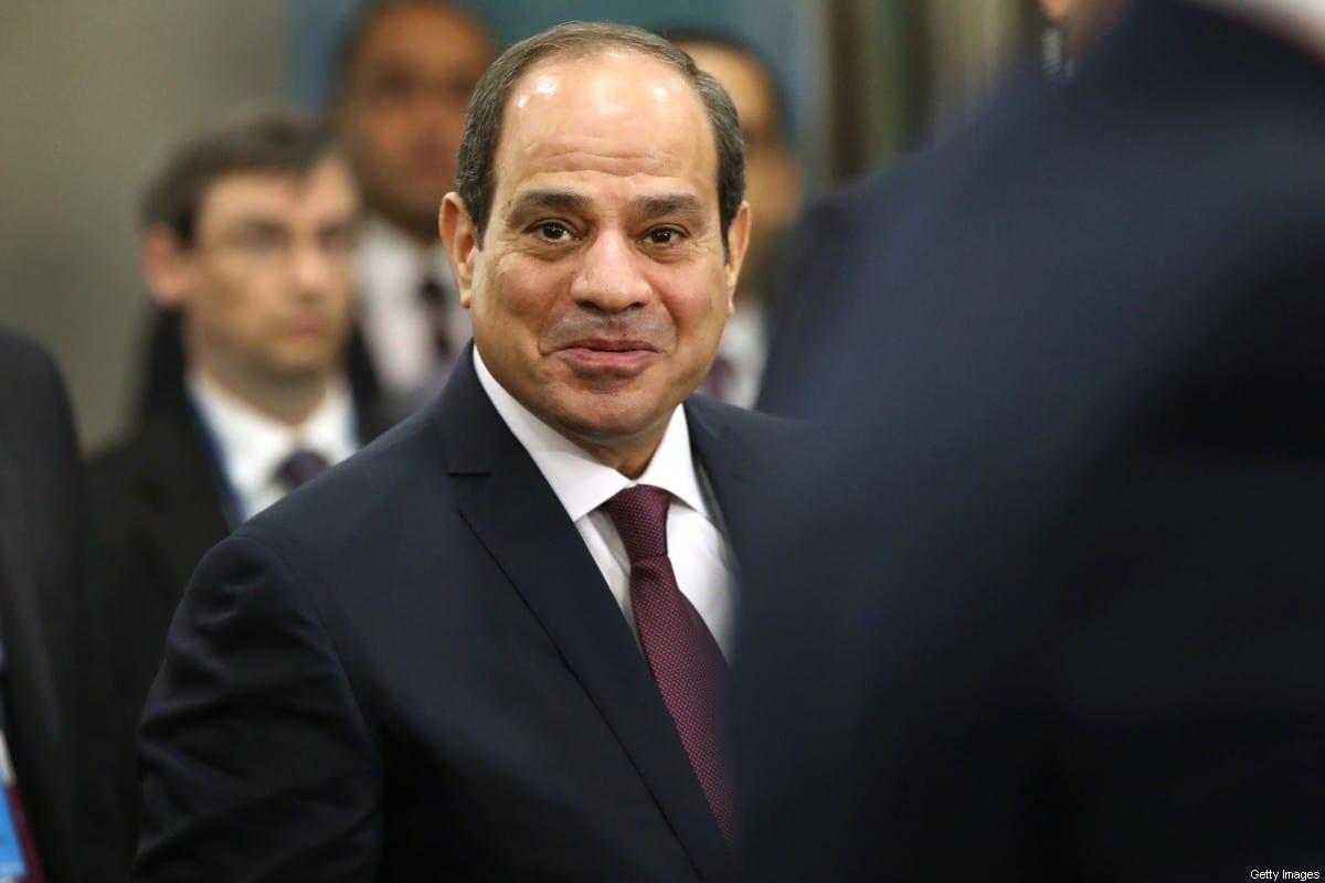 Egyptian President Abdel-Fatah Al-Sisi in New York, US on 24 September 2019 [Spencer Platt/Getty Images]