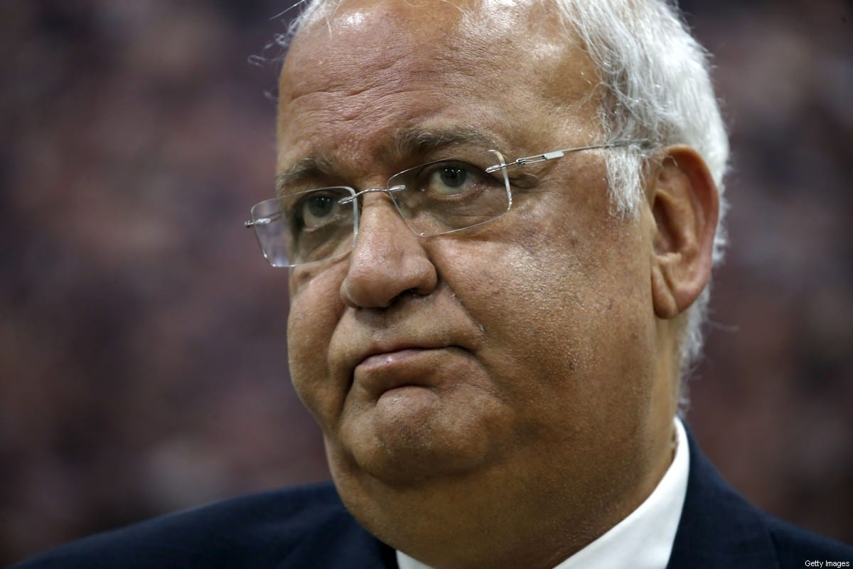 Saeb Erekat, Secretary-General of the Palestine Liberation Organisation and chief Palestinian negotiator [ABBAS MOMANI/AFP via Getty Images]