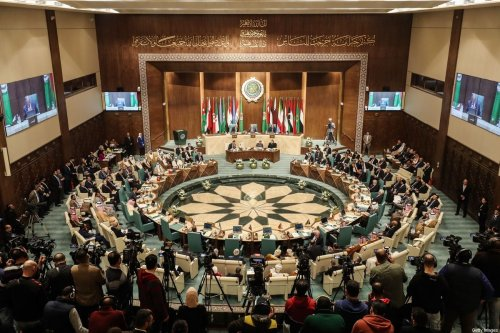Arab Foreign Ministers take part in their 153rd annual session at the Arab League headquarters in the Egyptian capital Cairo, on 4 arch 2020 [MOHAMED EL-SHAHED/AFP/Getty Images]