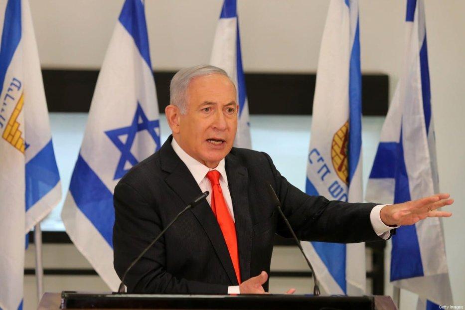 Israeli Prime Minister Benjamin Netanyahu in Jerusalem on 8 September 2020 [ALEX KOLOMIENSKY/POOL/AFP/Getty Images]