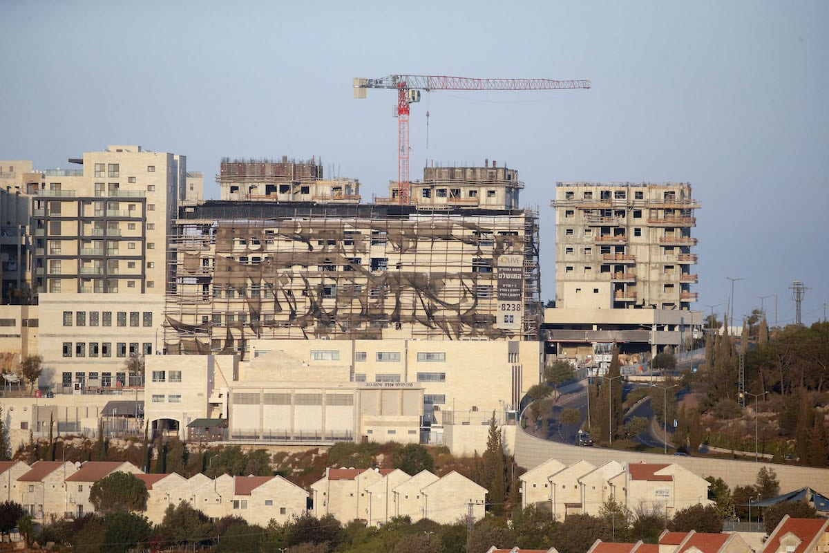 New buildings in the Israeli settlement of Efrat south of the city of Bethlehem in the occupied West Bank on 14 October 2020 [HAZEM BADER/AFP via Getty Images]