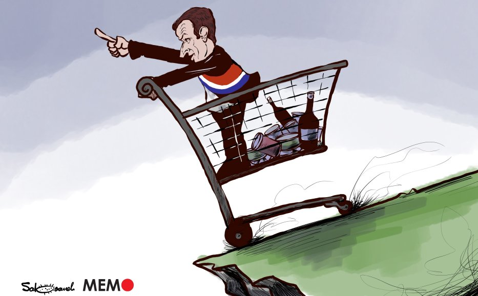 Calls to boycott French products - Caricature [Sabaaneh/MiddleEastMonitor]