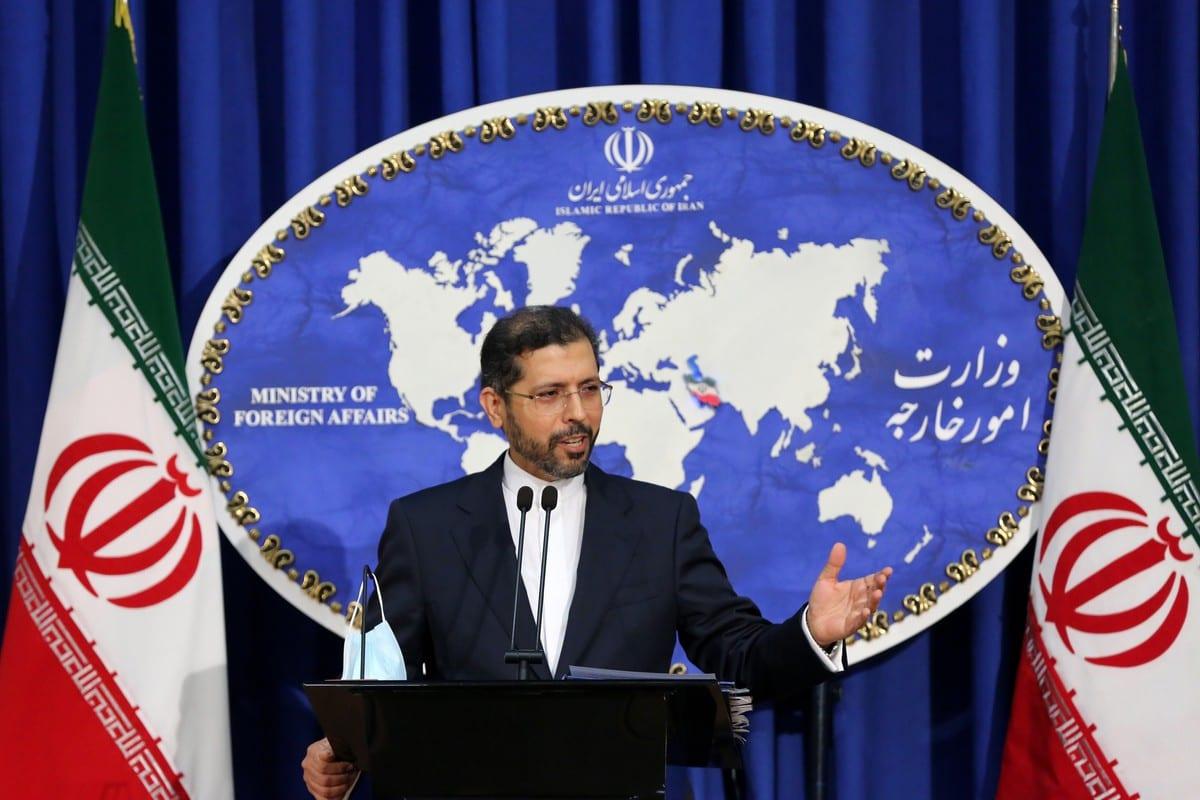Iranian Foreign Ministry Spokesman Saeed Khatibzadeh in Tehran, Iran on 5 October 2020 [Fatemeh Bahrami/Anadolu Agency]