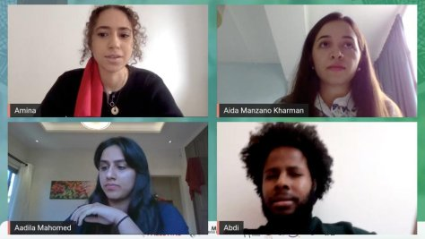 "The Association of Student Activism for Palestine held an online conference on Saturday, under the banner of ""Justice for Palestine"""