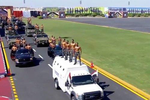 Thumbnail: Impressing Sisi: Police cadets pose topless at graduation parade