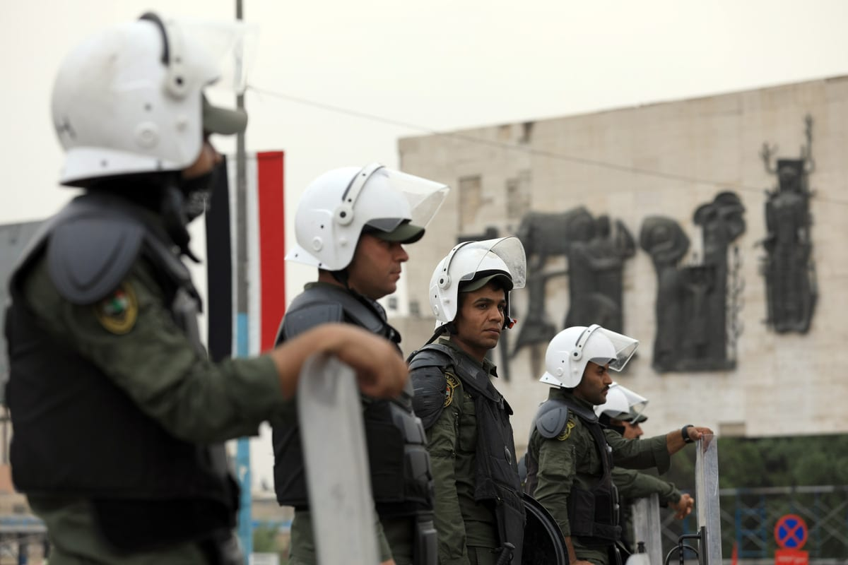 Iraqi security forces in Baghdad, Iraq on 3 November 2020 [Murtadha Al-Sudani/Anadolu Agency]