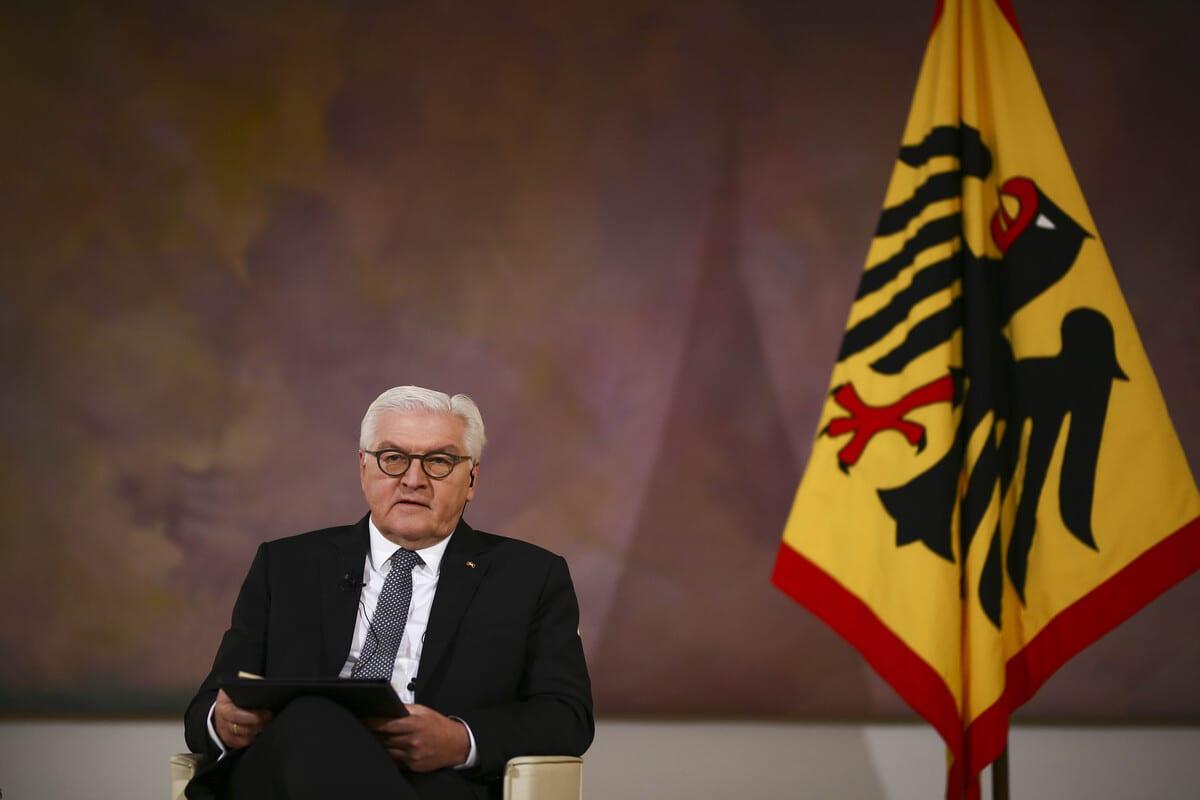 German President Frank-Walter Steinmeier in Berlin, Germany on 10 November 2020 [Abdulhamid Hoşbaş/Anadolu Agency]
