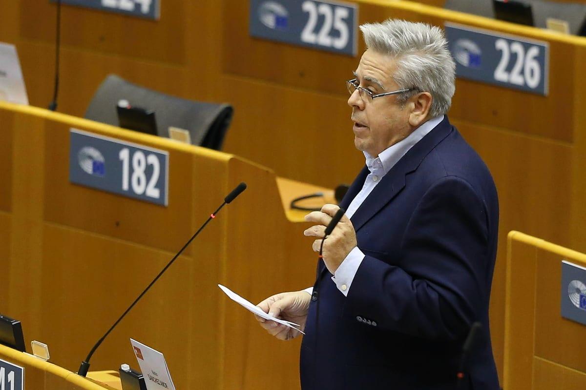 Rapporteur on Turkey for the European Parliament Nacho Sanchez Amor makes a speech at the plenary session of the European Parliament in Brussels, Belgium on 24 November 2020. [Dursun Aydemir - Anadolu Agency]
