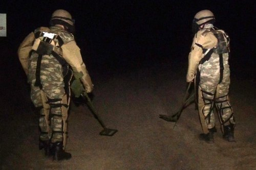 A screen grab captured from a video shows Azerbaijani soldiers patrolling Kalbajar after they entered the region following 27 years of Armenian occupation, in Kalbajar, Azerbaijan on November 25, 2020. [AZ Defense Ministry - Anadolu Agency]
