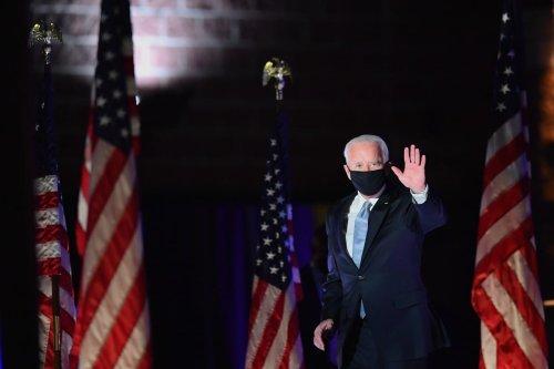 US President-elect Joe Biden in Wilmington, Delaware, on 7 November 2020 [ANGELA WEISS/AFP/Getty Images]