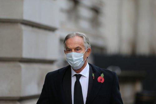 Former UK Prime Minister, Tony Blair arrives at Downing Street in London, United Kingdom on 8 November 2020 [Tayfun Salci/Anadolu Agency]