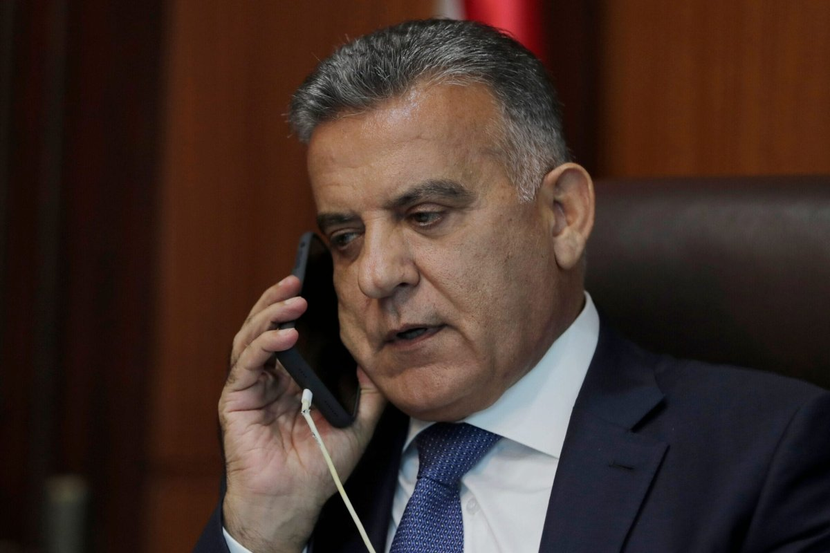 The influential head of Lebanon's General Security apparatus, Abbas Ibrahim, is pictured during an interview at his office in the capital Beirut on July 22, 2020. (Photo by ANWAR AMRO / AFP) (Photo by ANWAR AMRO/AFP via Getty Images)