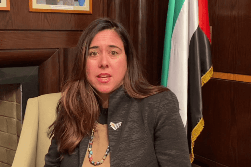 UAE's permanent representative to the United Nations in New York, Lana Zaki Nusseibeh [Youtube]