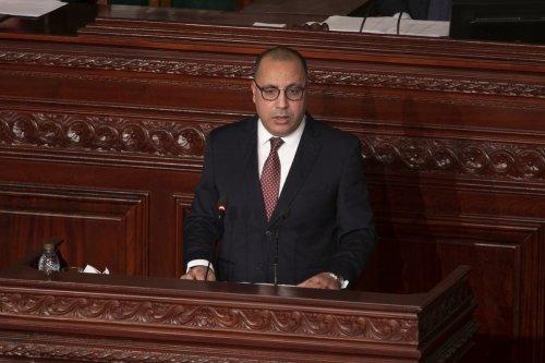 Tunisian Prime Minister Hichem Mechichi in Tunis, Tunisia, on November 28, 2020 [Yassine Gaidi/Anadolu Agency]