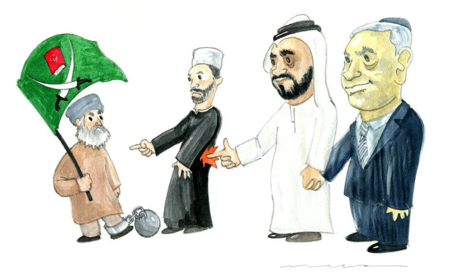 Pressures against The Muslim Brotherhood - Cartoon [Muba Maza]